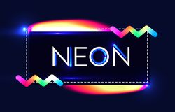 Abstract Trendy Shining Neon Banner. Colorful Cover and Poster Pemplate. Vector illustration Royalty Free Stock Photo