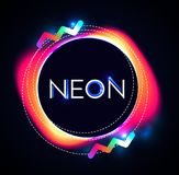 Abstract Trendy Shining Neon Banner. Colorful Cover and Poster Pemplate. Vector illustration Stock Photo