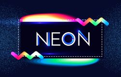 Abstract Trendy Shining Neon Banner. Colorful Cover and Poster Pemplate. Vector illustration Stock Images