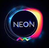 Abstract Trendy Shining Neon Banner. Colorful Cover and Poster Pemplate. Vector illustration Royalty Free Stock Photos