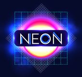 Abstract Trendy Shining Neon Banner. Colorful Cover and Poster Pemplate. Vector illustration Stock Photography