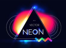 Abstract Trendy Shining Neon Banner. Colorful Cover and Poster Pemplate. Vectror illustration Royalty Free Stock Photography