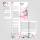 Abstract tri-fold brochure design Royalty Free Stock Image