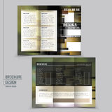 Abstract tri-fold brochure template design Royalty Free Stock Image