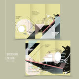 Abstract tri-fold brochure template design Royalty Free Stock Images