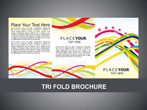 Abstract tri fold brochure template Stock Image