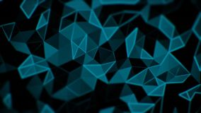 Abstract triangle animation stock video footage