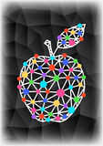 Abstract triangle apple with background Stock Image