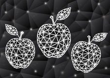 Abstract triangle apples with background Stock Photo