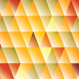 Abstract triangle autumn-colored background Stock Photos