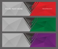Abstract Triangle Background. Abstract background for banner design Stock Image