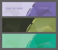 Abstract Triangle Background. Abstract background for banner design Royalty Free Illustration