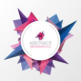 Abstract triangle background with circle for your text. Vector. Illustration Stock Images
