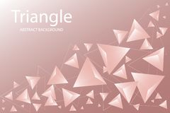 Abstract Triangle Background. 3D Triangles. Modern Wallpaper. Vector illustration stock illustration