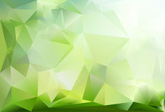 Abstract triangle background. Dark green, light green and white colour Stock Image