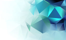 Abstract triangle background. Deep blue, green, white and cyan colour Royalty Free Stock Images