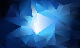 Abstract triangle background. Deep blue, white colors. 10 EPS Royalty Free Stock Photos