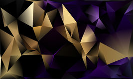 Abstract triangle background. Deep purple, gold. 10 EPS Stock Photos