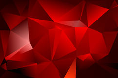 Abstract triangle background. Deep red and black colour Royalty Free Stock Photos