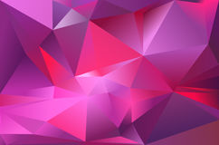 Abstract triangle background. Deep violet, purple, red and pink colour Royalty Free Stock Photography