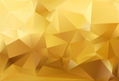 Abstract triangle background. Gold and white colour Stock Photography
