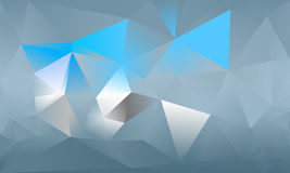 Abstract triangle background. Light blue, cyan. 10 EPS Royalty Free Stock Images