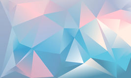 Abstract triangle background. Light blue, pink and white colour Royalty Free Stock Photo