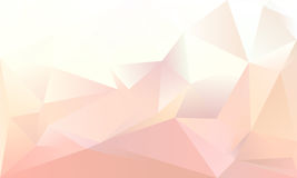 Abstract triangle background. Light pink and white colour Stock Photos