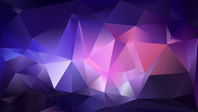 Abstract triangle background. Light pink, white, gold. 10 EPS Stock Photography