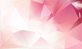 Abstract triangle background. Light pink, white and red colour Stock Photo
