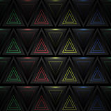 Abstract triangle background with neon elements Stock Images