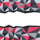 Abstract triangle background with space for text. Stock Photography