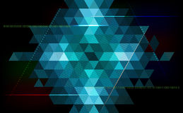 Abstract triangle  background - technology, science, programming Royalty Free Stock Image
