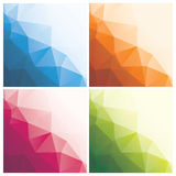 Abstract triangle backgrounds with dots. Set of abstract geometric backgrounds with triangles and dots, illustration royalty free illustration