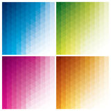 Abstract triangle backgrounds Stock Images