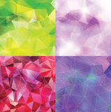 Abstract triangle backgrounds set Stock Image