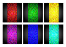 Abstract triangle backgrounds set. Royalty Free Stock Photos
