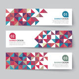 Abstract triangle banner flat design Stock Images