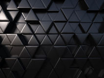 Abstract triangle black metal background 3d rendering Royalty Free Stock Images