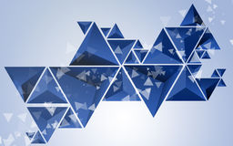 Abstract Triangle Blue Background Stock Photos