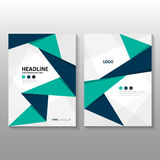 Abstract triangle Blue green purple polygon annual report Leaflet Brochure Flyer template design, book cover layout design Stock Image
