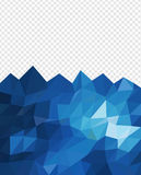 Abstract triangle blue ocean Stock Images