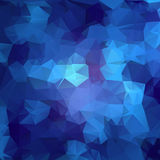 Abstract triangle blue texture Royalty Free Stock Photos