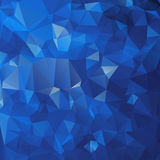 Abstract triangle blue texture Stock Photos