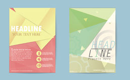 Abstract Triangle Brochure Flyer design business annual report d. Esign templates. Geometric square shapes backgrounds. illustration eps.10 Stock Image
