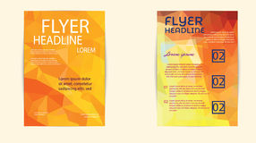 Abstract Triangle Brochure Flyer design Layout template in A4 Stock Images