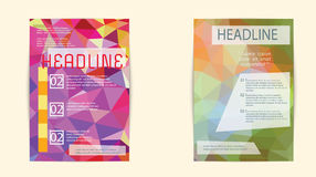 Abstract Triangle Brochure Flyer design Layout template in A4 Stock Photos