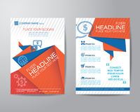 Abstract triangle brochure flyer design layout template in A4 si