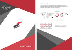 Abstract Triangle Brochure Flyer design Layout template. Royalty Free Stock Photo