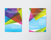 Abstract Triangle Brochure Flyer design in A4 size Stock Photos